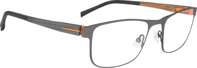 12M061 gris storm/carbone/bois clair/orange