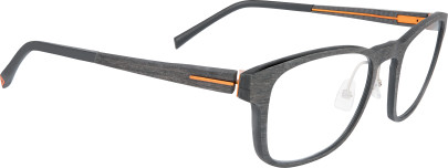 12M043 bois noir/carbone/orange